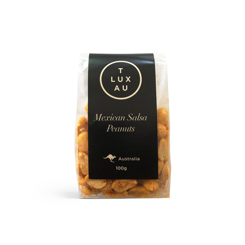 Black Label Small Clear Bags  / Mexican Salsa Peanuts 100g - Black Series