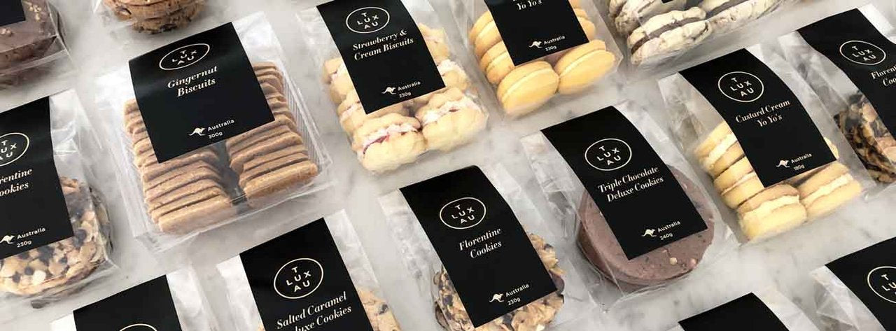 Hotel Luxury Biscuits & Edibles. Stylish Australian Made Delicious Biscuits. Ideal Welcome Gift