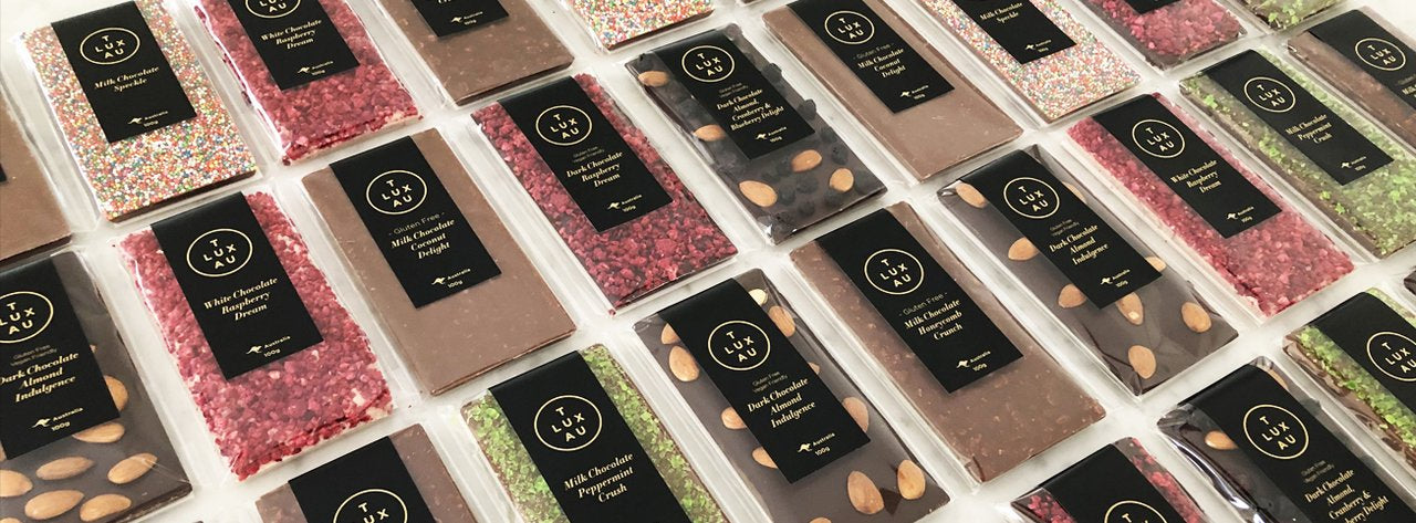 Luxury White Label Chocolates and Confectionery. Hotel Supplies Melbourne Australian Made. Corporate Private Label Branding Customisation available.