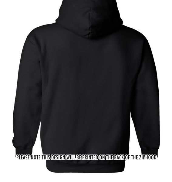 Custom AWD Unisex Zip Hood - Printed on back only