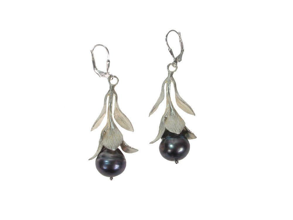 Budding Pearl Sterling Earrings