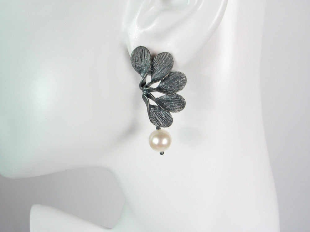 Petal Fan Pearl Earrings | Erica Zap Designs