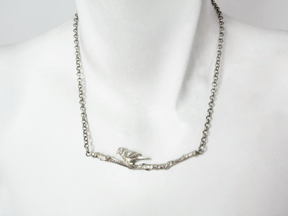 Bird on a Branch Sterling Necklace | Erica Zap Designs