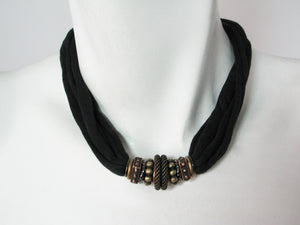 Fabric & Metal Necklace No. 3 | Erica Zap Designs
