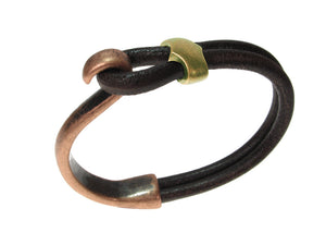 Cord Leather Bracelet | Lasso Hook & Slide | Erica Zap Designs