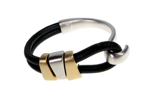Cord Leather Bracelet | Double Strand Lasso with 3 Slides | Erica Zap Designs