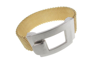 Flat Mesh Bracelet with Square Hook Clasp | Erica Zap Designs