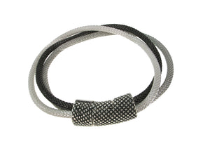 3-Strand Mesh Bracelet with Textured Magnetic Clasp | Erica Zap Designs