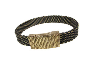 Flat Mesh Bracelet with Textured Magnetic Clasp | Erica Zap Designs