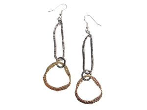 Hammered Metal Drop Earrings | Erica Zap Designs