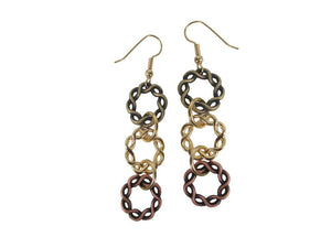 Twisted Circle Drop Earrings | Erica Zap Designs