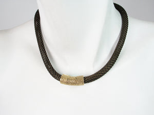 Thick Mesh Strand Necklace with Textured Magnetic Clasp | Erica Zap Designs