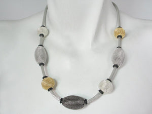Mesh Necklace with Spaced Beads | Erica Zap Designs