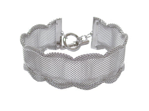 Wide Scalloped Mesh Bracelet | Erica Zap Designs