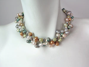 3-Strand Pearl Necklace | Erica Zap Designs