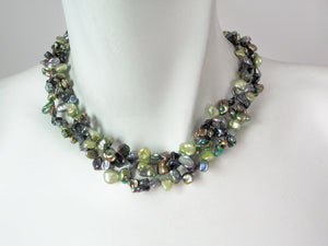 3-Strand Keshi Pearl Necklace | Erica Zap Designs