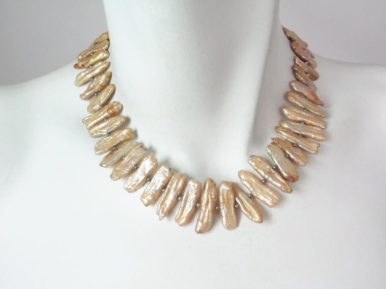 Champagne Stick Pearl Necklace