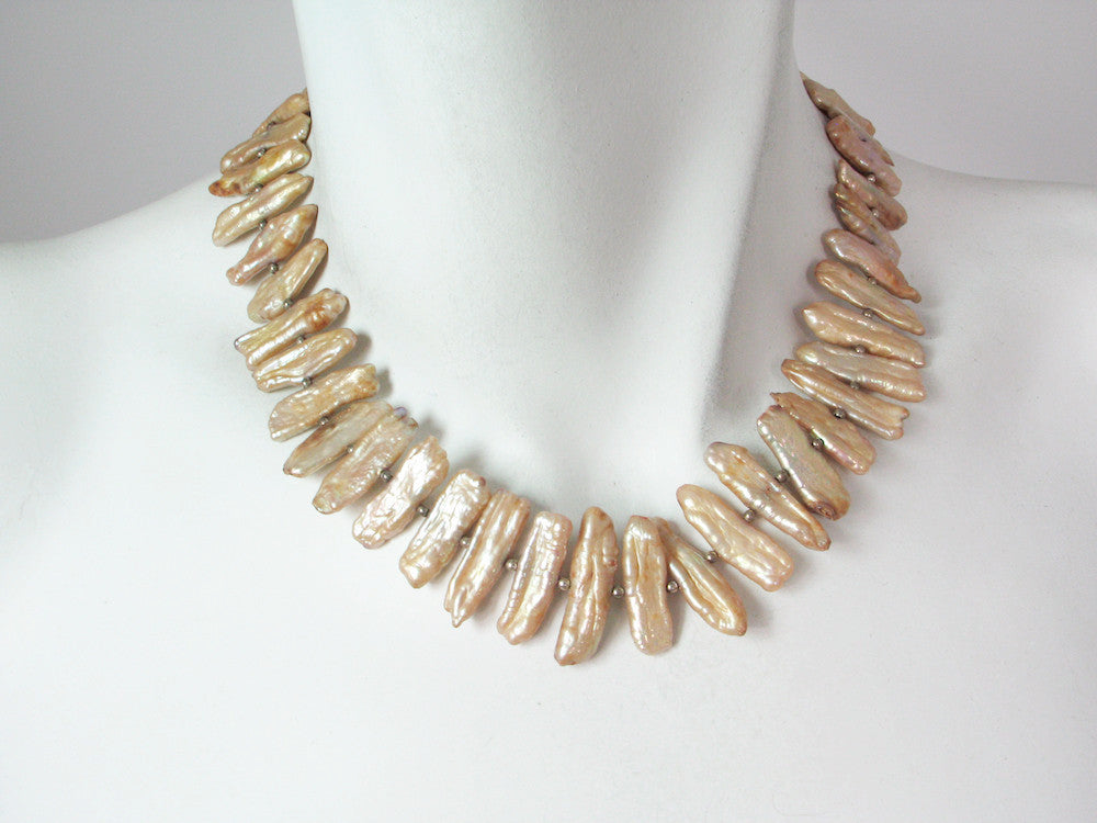 Champagne Stick Pearl Necklace | Erica Zap Designs