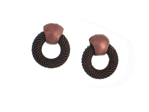 Circle Mesh Earrings - Erica Zap Designs