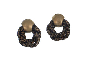 Mesh Knot Earrings | Erica Zap Designs