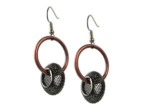 Floating Mesh Bead Earrings | Erica Zap Designs