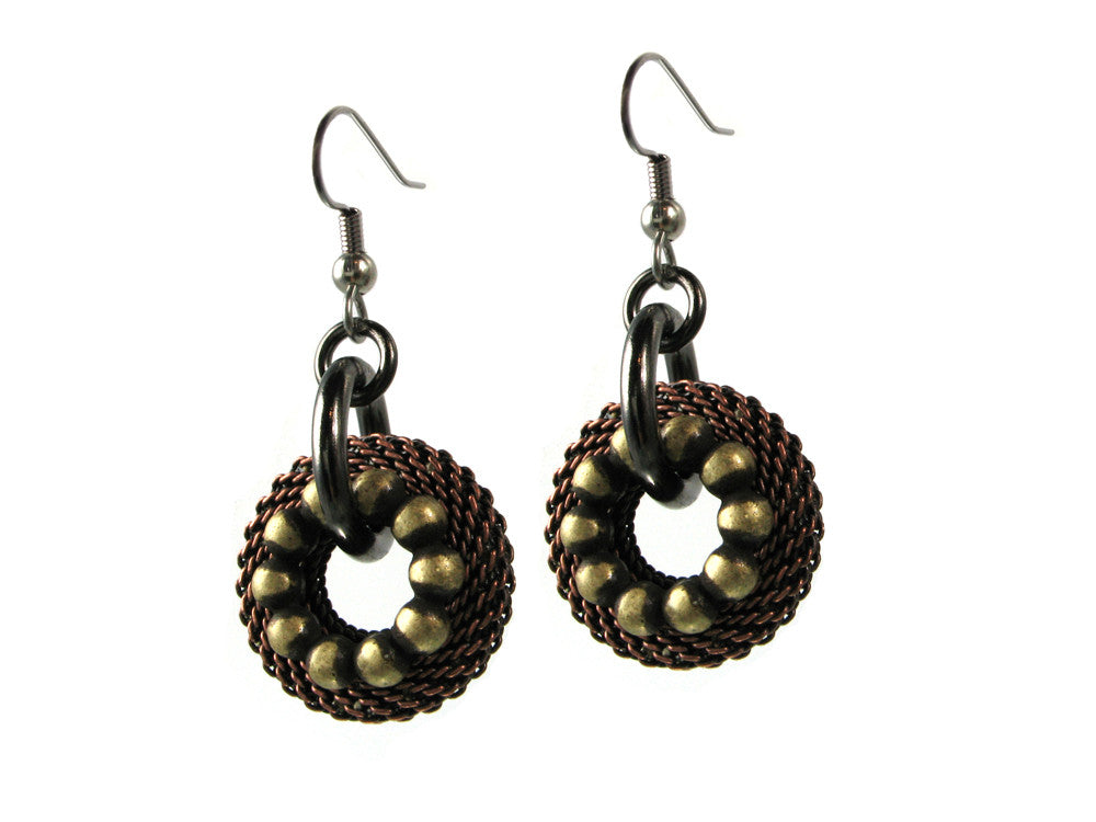 Small Mesh & Textured Circle Earrings | Erica Zap Designs