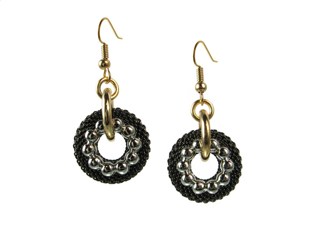 Small Mesh & Textured Circle Earrings - Erica Zap Designs