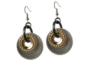 Large Mesh & Textured Circle Earrings | Erica Zap Designs