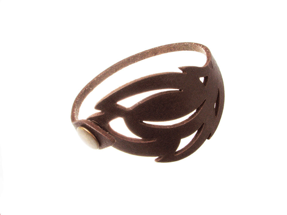 Laser Cut Leather Bracelet | Foliage No.1 | Erica Zap Designs