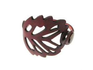Laser Cut Leather Bracelet | Foliage No.2 | Erica Zap Designs