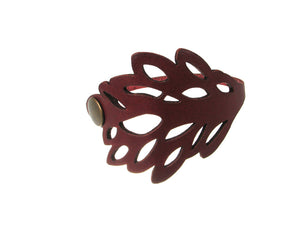 Laser Cut Leather Bracelet | Foliage No.3 | Erica Zap Designs