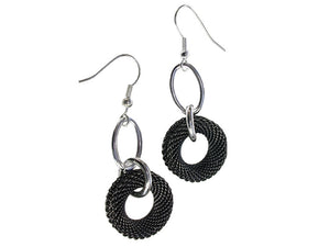 Mesh Circle Drop Earrings - Erica Zap Designs
