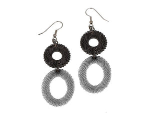 Double Drop Mesh Earrings | Erica Zap Designs
