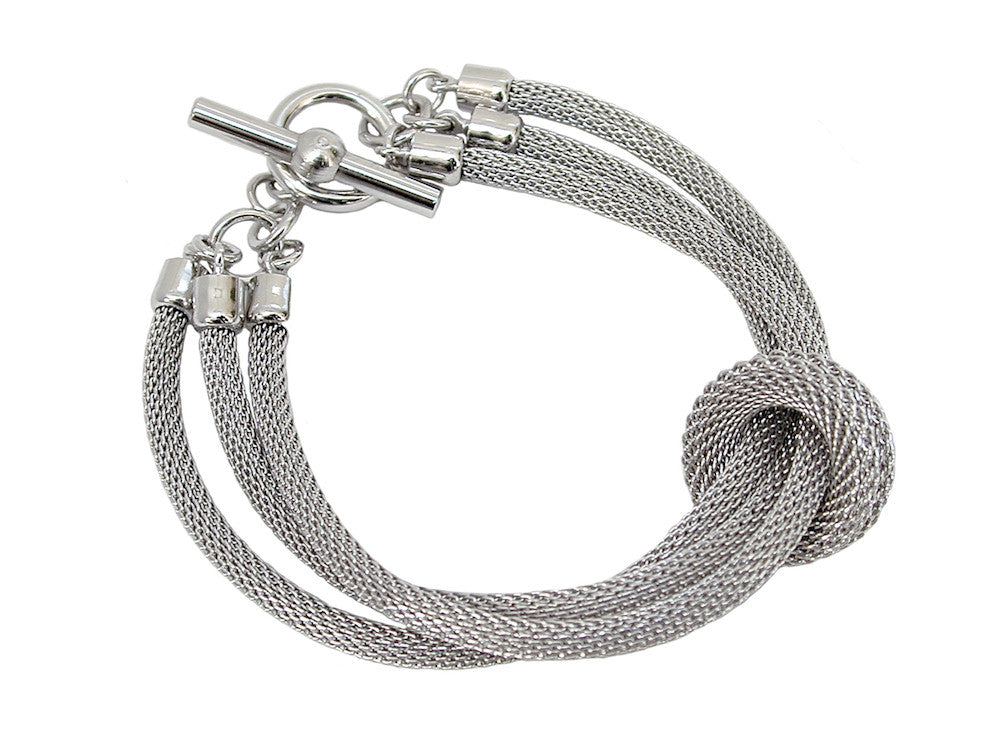 3-Strand Mesh Bracelet with Removable Ring (solid) | Erica Zap Designs