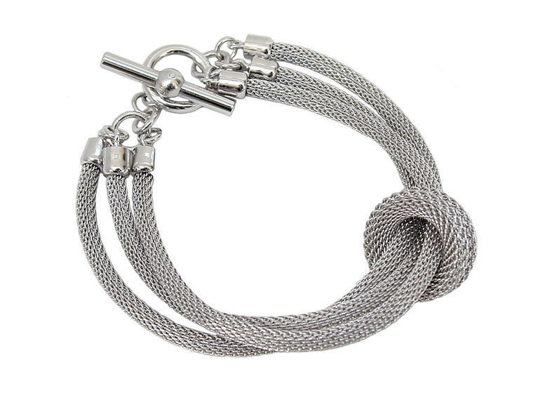 3-Strand Mesh Bracelet with Removable Ring (solid) - Erica Zap Designs