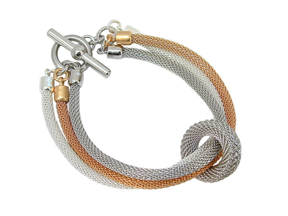 3-Strand Mesh Bracelet with Removable Ring (mixed) | Erica Zap Designs