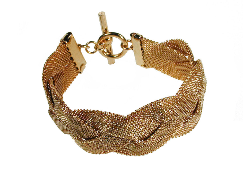 Wide Braid Mesh Bracelet - Erica Zap Designs