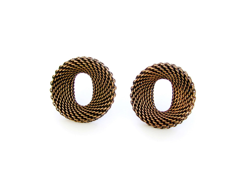 Small Contoured Oval Mesh Earrings - Erica Zap Designs