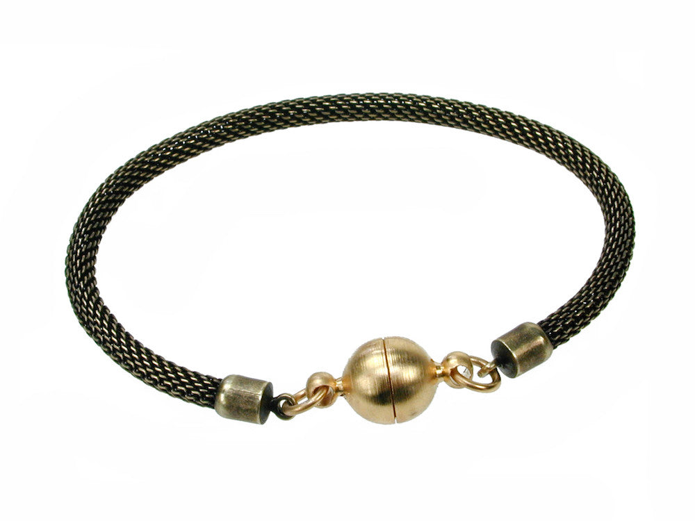 Mesh Bracelet with Magnetic Ball Clasp - Erica Zap Designs
