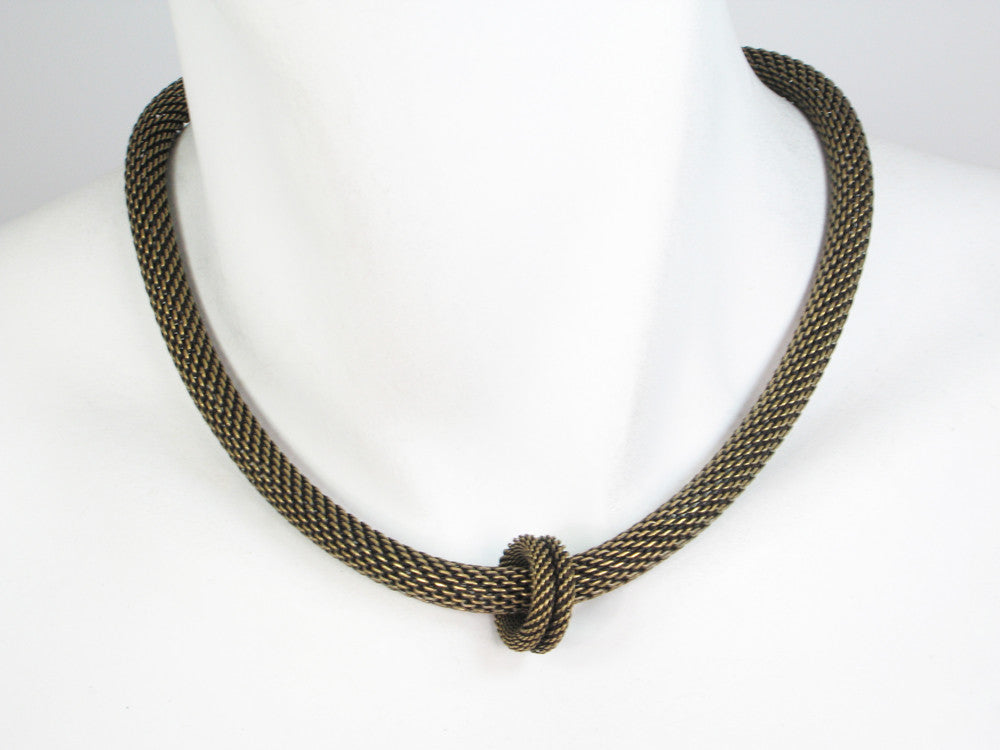 Round Mesh Necklace with Floating Ring - Erica Zap Designs