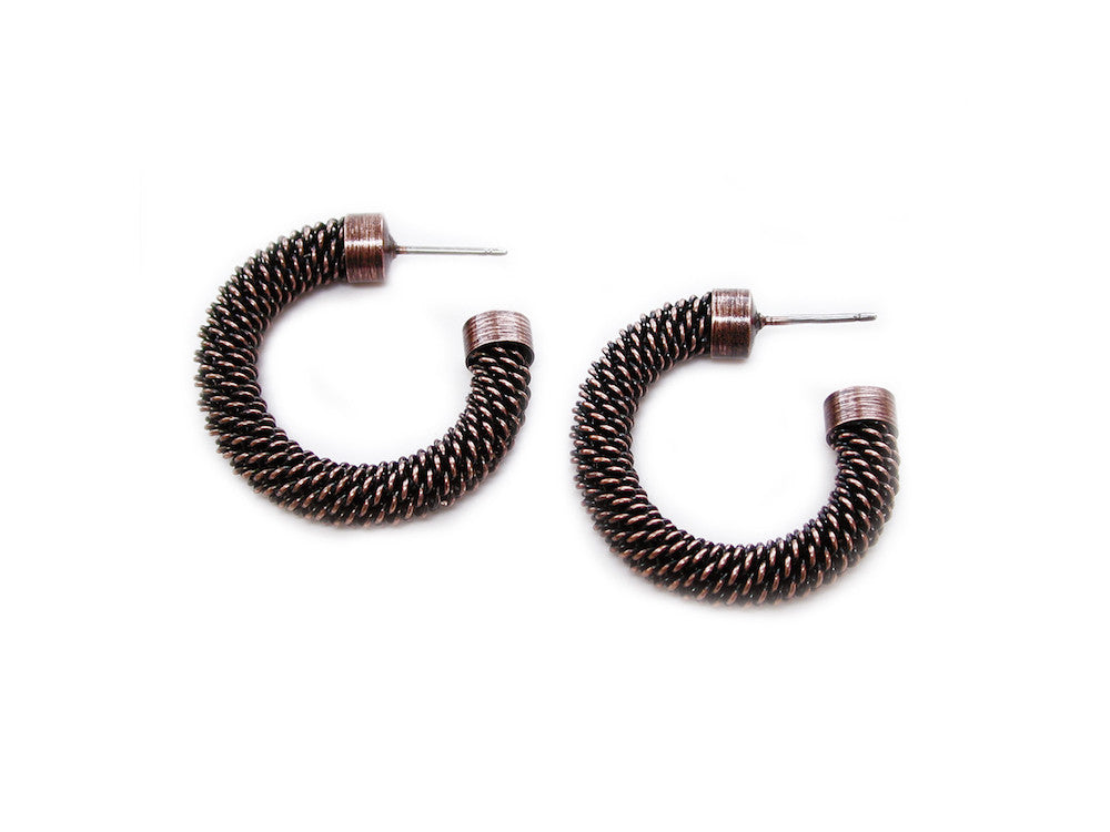 Small Mesh Hoop Earrings - Erica Zap Designs