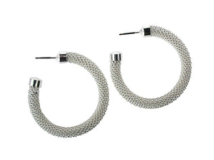 Large Mesh Hoop Earrings | Erica Zap Designs