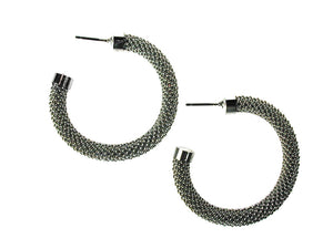 Large Mesh Hoop Earrings - Erica Zap Designs
