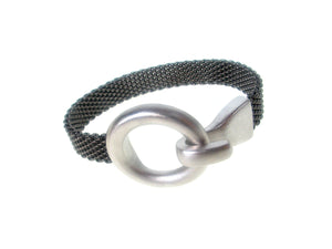 Flat Mesh Bracelet with Circle Hook Clasp | Erica Zap Designs