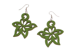 Small Lotus Flower Leather Earrings | Erica Zap Designs
