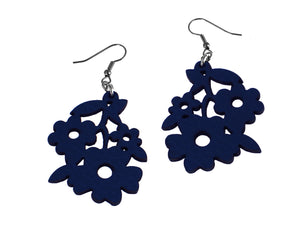 Bouquet Pattern Leather Earrings | Erica Zap Designs