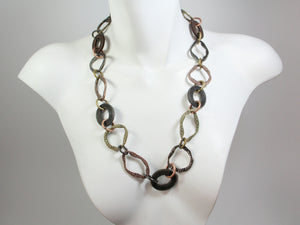 Oval Link Mesh & Metal Necklace | Erica Zap Designs