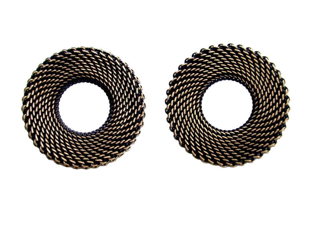 Large Circle Mesh Earrings - Erica Zap Designs