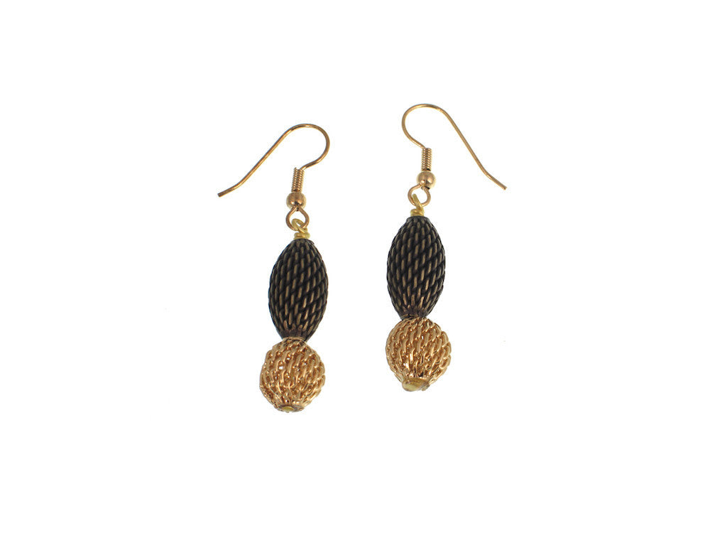 2-Tone Mesh Drop Earrings - Erica Zap Designs