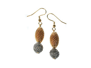2-Tone Mesh Drop Earrings | Erica Zap Designs